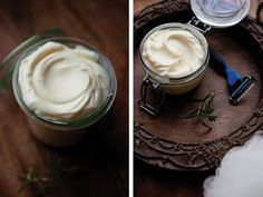 One of our face #DIY for Dads: Silky Rosemary Mint Shaving Cream #fathersday