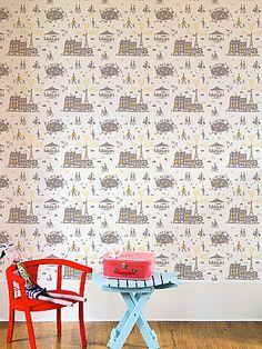Un Dimanche à Paris.  Pretty wallpaper for a kid's room.