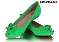 Zielona baleriny / Green ballerines / 19,50 PLN #green #ballerines #fashion #summer #spring #baleriny