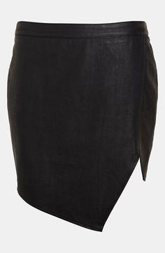 ASTR Asymmetrical Faux Leather Skirt   Nordstrom