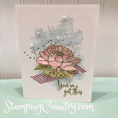 2 Stamping Techniques-Watercoloring and Heat Embossing