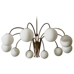 1stdibs - Massive Globed Chandelier Attributed to Stilnovo explore items from 1,700  global dealers at 1stdibs.com