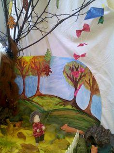 jahreszeitentisch herbst Spring Nature Table, Waldorf Kindergarten, Suncatcher, Waldorf Dolls, Concept, Seasons, Festivals, Painting, Waldorf Education