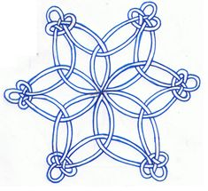Celtic Knot Snowflake by KarianaSan Celtic Symbols, Celtic Art, Celtic Knots, Mayan Symbols, Egyptian Symbols, Ancient Symbols, Mandala Coloring Pages, Colouring Pages, Celtic Christmas