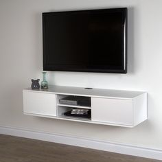 Tv stand for the wall south shore wall mounted media console stand for s up to tv wall mount stand decoration ideas tv stand walmart glass Floating Tv Stand, Floating Wall, Floating Tv Console, Floating Shelves, Wall Mounted Media Console, Console Tv, Tv Console Modern, Wall Mount Tv Stand, Wall Mount Tv Shelf