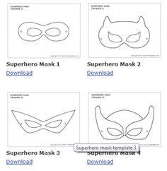 Superhero Masks To Decorate Fair Máscaras De Super Héroes Mascaras  Pinterest  Issa Design Ideas