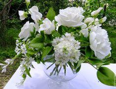"""Купить Букет из глины """"Белая чемчужина"""".Полимерная флористика - белый, белый цветок, белые цветы"""