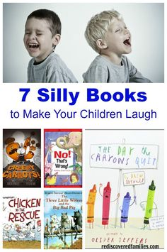 Younger children love silly books, so Ive made a list of my favorites. These are the books that get the children in our library laughing. Pick up one of these books and then enjoy all those giggles. Laughing with your child over a silly book is a great w Teaching Kids, Kids Learning, Early Learning, Kids Laughing, Early Literacy, Literacy Games, Book Suggestions, Chapter Books, Bedtime Stories