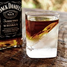 WHISKEY WEDGE | Enjoy your favorite spirits perfectly chilled--but not watered down--by filling the silicone mold with water and freezing to form a diagonally bisected glass that makes a modern statement for cocktail conversation.