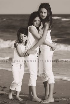 Sisters pose...mine would be at just the right height for this...Mia would be the challenge:)