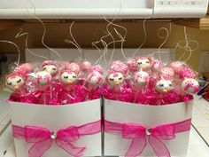 Baby Shower Cake Pops Centerpieces