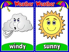 The Weather -  Set of 6 Flashcards
