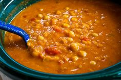 Kalyn's Kitchen®: Crockpot Recipe for Red Lentil, Chickpea, and Tomato Soup with Smoked Paprika