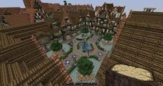 minecraft medieval town square castle layout architecture project map lovely creations update1 planetminecraft designs buildings