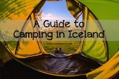 Shortly after booking my ticket to Iceland, I take a long look at the map. How can I schedule an itinerary that will make the most of my time in this . Camping Europe, Camping Places, Camping Spots, Iceland Travel, Camping Iceland, Camping Guide, Camping And Hiking, Backpacking, Viajes