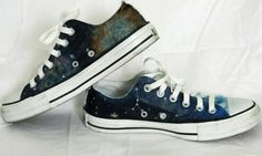 Across the Galaxy Shoes (Painted Converse) - CLOTHING