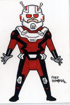 Fred Hembeck Color Sketch Card: Ant-Man Now! (Avengers/Marvel) 1/1