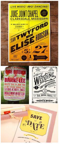 music poster invitations.