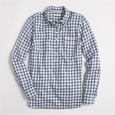 Factory plaid popover shirt in flannel : Factory Find | J.Crew Factory