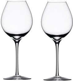 Orrefors Difference Fruit Wine Glasses, Set of 2 A unique suite of wine glasses explicitly designed to enhance flavor and bouquet, brings a new dimension to the Crystal Stemware, Clear Crystal, Wine Glass Set, Fine Wine, Drinkware, Glass Art, Take That, Fruit, Crystals