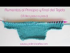 Knit Increases at the begining and the end of your work Knitting Help, Knitting Stiches, Knitting Videos, Baby Knitting, Crochet Baby, Knitting Patterns, Knit Crochet, Learn How To Knit, Tips & Tricks
