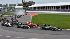 Lewis Hamilton (GBR) Mercedes AMG F1 W06 leads at the start of the race at Formula One World Championship, Rd7, Canadian Grand Prix, Race, Montreal, Canada, Sunday 7 June 2015. © Sutton Motorsport Images