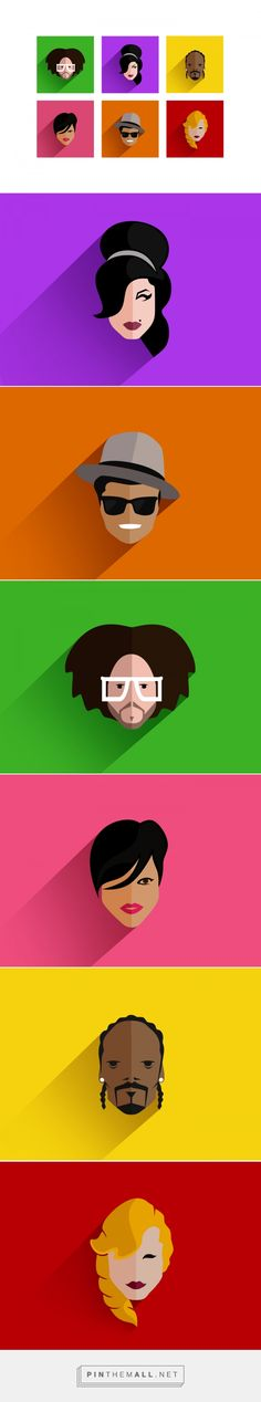 Pop Icons on Behance - created via http://pinthemall.net