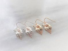 Bijoux mariage – Boucles d'oreilles demoiselles d'honneur « Nélia » avec perles swarovski