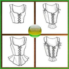 Butterick 4669 Snow White Medieval Bodice/Corset Patterns