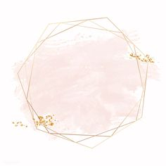 Gold geometric frame on a pink brushstroke background vector free image by Adj marinemynt Pink Glitter Background, Flower Background Wallpaper, Logo Background, Framed Wallpaper, Flower Backgrounds, Watercolor Background, Wallpaper Backgrounds, Vintage Backgrounds, Watercolor Logo