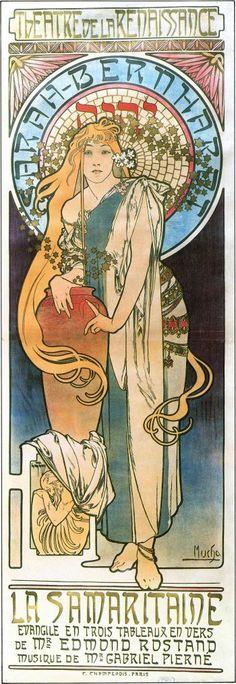 Alphonse Mucha, Sarah Bernhardt in La Samaritaine, 1897