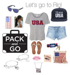 """Team USA!"" by princesspenguins ❤ liked on Polyvore featuring Alex and Ani, rag & bone/JEAN, Oakley, Aéropostale, Casetify and TWIG & ARROW"