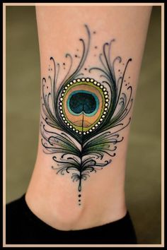 Mind-blowing Small Peacock Feather Tattoo