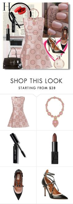 """HAPPY PINK VALENTINE'S DAY"" by whitewolf ❤ liked on Polyvore featuring RED Valentino, Ciner, Bobbi Brown Cosmetics, NARS Cosmetics, Valentino and Ultimate"