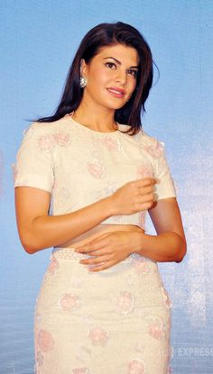 Jacqueline Fernandez made an appearance at an event for cosmetic and skincare…