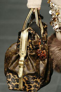 Louis Vuitton with gold & leopart print