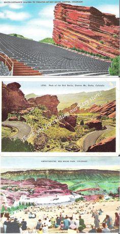 Vintage Postcards, Red Rocks Theatre, Denver, Colorado