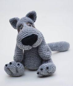 Амигуруми: Серый волк. Бесплатная схема для вязания игрушки. FREE amigurumi pattern. #амигуруми #amigurumi #схема #pattern #вязание #crochet #knitting #wolf #волк