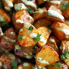 Crispy Potatoes with Garlic Lemon Avocado Aioli
