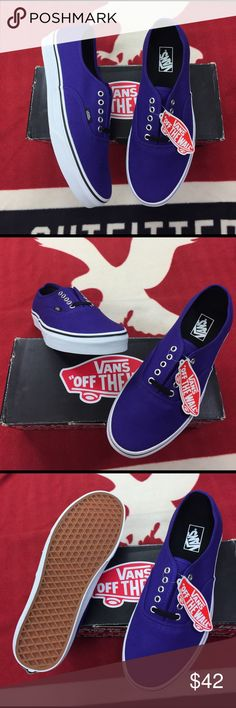 Vans Authentic Dark Purples' The Authentic, the original and now iconic Vans style, features a simple low top profile, with sturdy canvas uppers, special metal eyelets, and signature waffle sole. The Authentic is a Classic and timeless silhouette everyone loves. Vans Shoes Sneakers