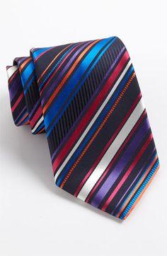 Etro Stripe Silk Woven Tie