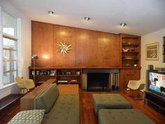 Mcm Built In Bookcase Cincinnati Modernation Finally A George Nelson Clock Danish Modernmidcentury