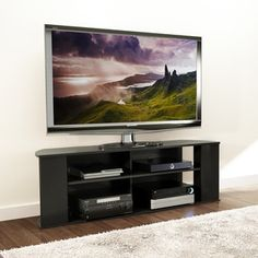 Ameriwood Home Galaxy 65 Inch Black Tv Stand With Mount By Ameriwood