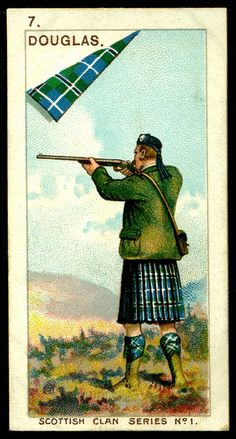 Mitchell's Cigarettes (Glasgow) - Scottish Clan Series - 1903. No7 Douglas | The House of Beccaria~