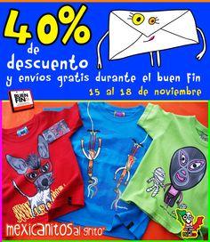 40% de descuento y ¡ENVÍOS GRATIS del 15 al 18 de noviembre! en nuestra tienda online: www.mercaditomexicanito.com @Kichink!