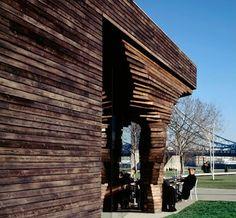 British Kiosks…it's the wood that makes it good » Yanko Design