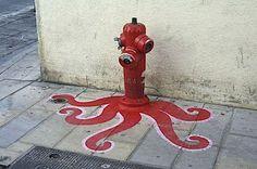 Cthulhu for firemen poke @lemagus #streetart