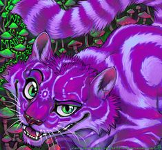 Fur Affinity is the internet's largest online gallery for furry, anthro, dragon, brony art work and more! Cheshire Cat Art, Cheshire Cat Tattoo, Chesire Cat, Purple Haze, Shades Of Purple, Wolf Wallpaper, Were All Mad Here, Anthro Furry, Furry Art