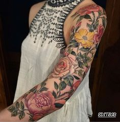 Nature Tattoo Sleeve Flowers 32 Ideas, # … – tattoos for women half sleeve Colorful Sleeve Tattoos, Tattoos Geometric, Best Sleeve Tattoos, Sleeve Tattoos For Women, Tattoo Sleeve Designs, Tattoo Designs For Women, Women Sleeve, Nature Tattoo Sleeve, Nature Tattoos