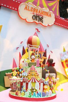 Carnival + Amusement Park Themed Birthday Party via Kara's Party Ideas KarasPartyIdeas.com Cake, decor, favors, food, banners, and more! #carnival #carnivalparty #amusementparkparty #carnivalpartyideas (3)